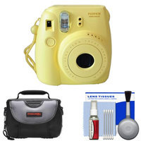 Fujifilm Instax Mini 8 Instant Film Camera (Yellow) with Case + Cleaning Kit