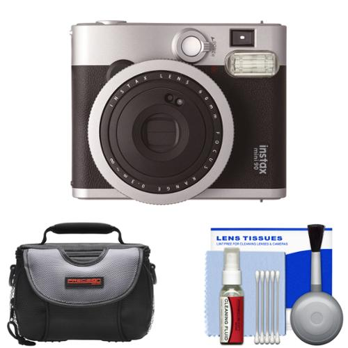Fujifilm Instax Mini 90 Neo Classic Instant Film Camera with Case + Cleaning Kit