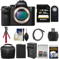 Sony Alpha A7 II Camera + 64GB Card + Case + Battery + Charger + Tripod + Kit
