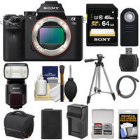 Sony A7 II Camera + 64GB + HVL-F60M Flash + Case + Batt + Charger + Tripod Kit
