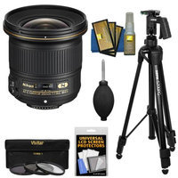 Nikon 20mm f/1.8G AF-S ED Nikkor Lens with 3 UV/CPL/ND8 Filters + Pistol Grip Tripod + Kit