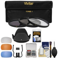 Vivitar 3-Piece Multi-Coated HD Filter Set (67mm UV/CPL/ND8) with Lens Hood + Diffusers + Accessory Kit
