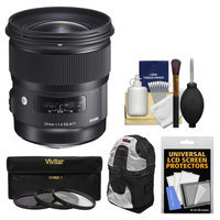 Sigma 24mm f/1.4 Art DG HSM Lens (for Canon EOS Cameras) with Sling Backpack + 3 UV/CPL/ND8 Filters + Kit