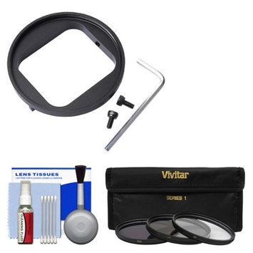Vivitar 52mm Filter Adapter for GoPro HERO3/ HERO3+/ HERO4 with 3 UV/CPL/ND8 Filters + Cleaning Kit