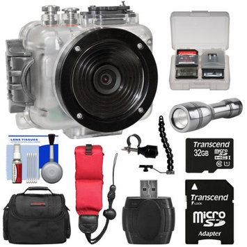 Intova Connex HD Waterproof Video Action Camera Camcorder with 32GB Card + Case + Floating Strap + LED Torch + Bracket + Kit