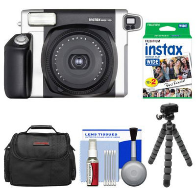 Fujifilm Instax Wide 300 Instant Film Camera with 20 Wide Twin Prints + Case + Flex Tripod + Kit
