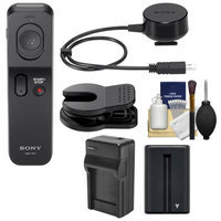 Sony RMT-VP1K Wireless Remote Shutter Controller with NP-FM500H Battery + Charger + Cleaning Kit