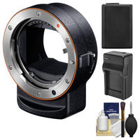 Sony Alpha LA-EA3 Adapter (Attach A-mount Lenses to E-mount Full Frame Camera) with NP-FW50 Battery & Charger + Accessory Kit + SONY USA Warranty