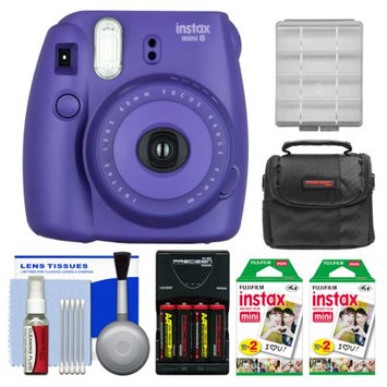 Fujifilm Instax Mini 8 Instant Film Camera (Grape) with 40 Instant Film + Case + Batteries & Charger Kit