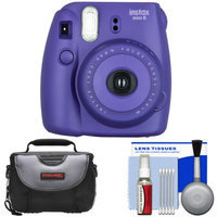 Fujifilm Instax Mini 8 Instant Film Camera (Grape) with Case + Cleaning Kit