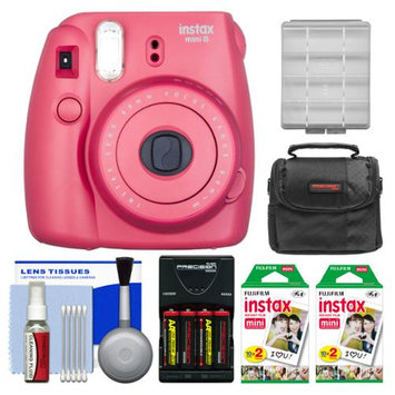 Fujifilm Instax Mini 8 Instant Film Camera (Raspberry) with 40 Instant Film + Case + Batteries & Charger Kit