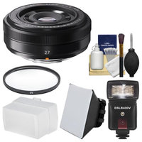 Fujifilm 27mm f/2.8 XF Lens with Flash & Diffusers + Filter + Kit