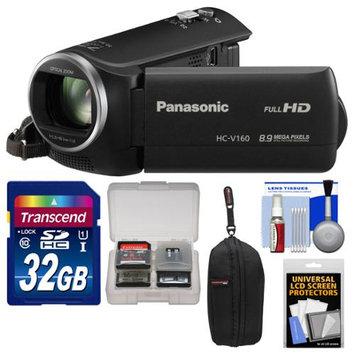 Panasonic HC-V160 HD Wi-Fi Video Camera Camcorder with 32GB Card + Case + Accessory Kit