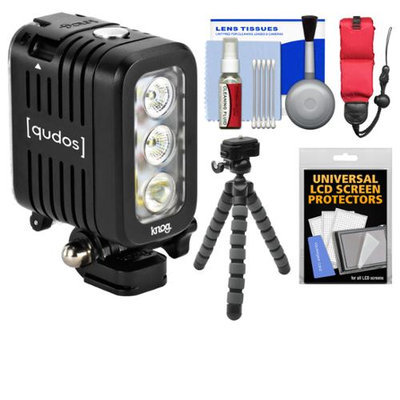 Knog Qudos Action Camera Video Light + Flex Tripod + Float Strap + Acc Kit