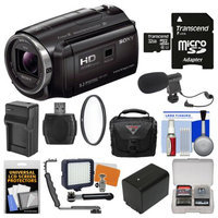 Sony Handycam HDR-PJ670 32GB Wi-Fi 1080p HD Video Camera Camcorder with Projector with 32GB Card + Case + LED Light + Microphone + Battery & Charger + Filter + Kit