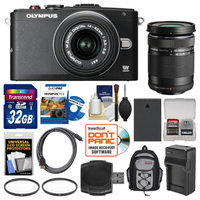 Olympus PEN E-PL6 Micro 4/3 Digital Camera & 14-42mm II R Lens with 40-150mm Lens + 32GB Card + Backpack + Battery & Charger + Filters + Kit + OLYMPUS USA Warranty