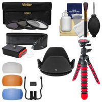 Essentials Bundle for Canon Rebel SL1, T3i, T5, T5i, T6i, T6s Camera & 18-135mm Lens with 3 UV/CPL/ND8 Filters + 3 Diffusers + Lens Hood + Kit + VIVITAR USA Warranty