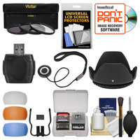 Essentials Bundle for Canon Rebel SL1, T3i, T5, T5i, T6i, T6s Camera & 18-135mm Lens with 3 (UV/CPL/ND8) Filters + Lens Hood + 4 Pop-up Flash Diffusers + Card Reader + Kit + VIVITAR USA Warranty