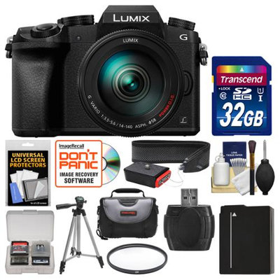 Panasonic Lumix DMC-G7 4K Wi-Fi Digital Camera & 14-140mm Lens with 32GB Card + Case + Battery + Tripod + Filter + Strap + Kit with PANASONIC USA Warranty