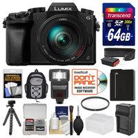 Panasonic Lumix DMC-G7 4K Wi-Fi Digital Camera & 14-140mm Lens with 64GB Card + Backpack + Flash + Battery + Charger + Flex Tripod + Filter + Strap Kit with PANASONIC USA Warranty