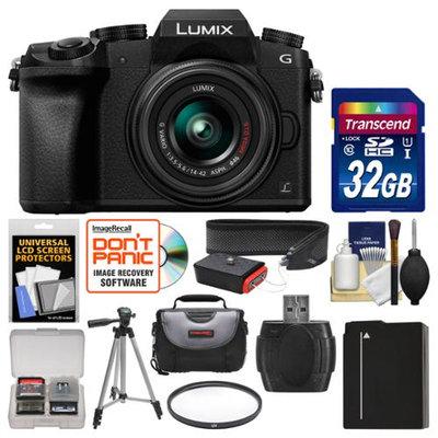 Panasonic Lumix DMC-G7 4K Wi-Fi Digital Camera & 14-42mm Lens (Black) with 32GB Card + Case + Battery + Tripod + Filter + Strap + Kit with PANASONIC USA Warranty