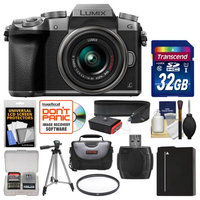Panasonic Lumix DMC-G7 4K Wi-Fi Digital Camera & 14-42mm Lens (Silver) with 32GB Card + Case + Battery + Tripod + Filter + Strap + Kit with PANASONIC USA Warranty