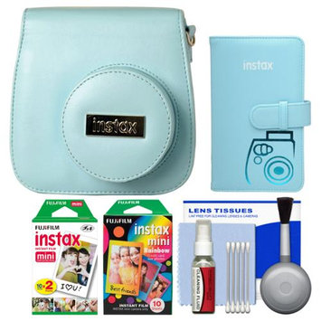 Fujifilm Groovy Camera Case for Instax Mini 8 (Blue) with 20 Twin & 10 Rainbow Prints + Photo Album + Kit