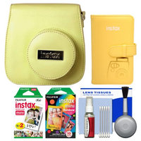 Fujifilm Groovy Camera Case for Instax Mini 8 (Yellow) with 20 Twin & 10 Rainbow Prints + Photo Album + Kit