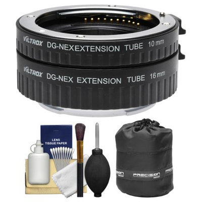 dlc Automatic Macro Extension Tube Set for Sony Alpha E-Mount Cameras with Pouch + Kit with DOT LINE USA Warranty
