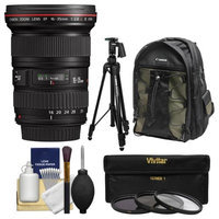 Canon EF 16-35mm f/2.8 L II USM Zoom Lens with Canon Backpack + Pistol-grip Tripod + 3 UV/CPL/ND8 Filters + Kit with CANON USA Warranty