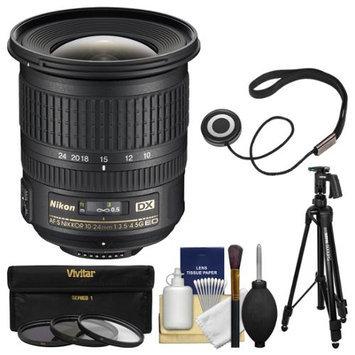 Nikon 10-24mm f/3.5-4.5 G DX AF-S ED Zoom-Nikkor Lens with Pistol-Grip Tripod + 3 Filters Kit for D3200, D3300, D5300, D5500, D7100, D7200 Camera with NIKON USA Warranty