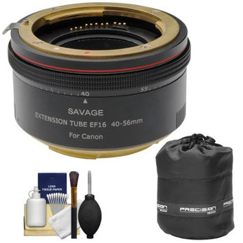 Savage Macro Art Variable Auto-Extension Tube (for Canon EOS Cameras) with Lens Pouch + Cleaning Kit