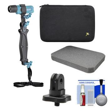 UKPro POV Freestyler Video Light Kit with 1/4 inch Thread Adapter + Custom Foam Case + Kit