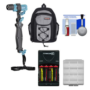 UKPro POV Freestyler Video Light Kit with Backpack Case + AA Batteries & Charger + Kit