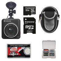 Transcend DrivePro 200 1080p HD Car Dashboard Video Recorder with Suction Cup with 32GB Card + Case + Kit