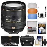 Nikon 16-80mm f/2.8-4E VR DX AF-S ED Zoom-Nikkor Lens with 3 UV/CPL/ND8 Filters + Case + 3 Flash Diffusers Kit for D3200, D3300, D5300, D5500, D7100, D7200 Camera with NIKON USA Warranty