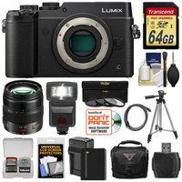 Panasonic Lumix DMC-GX8 4K Wi-Fi Digital Camera Body (Black) with 12-35mm f/2.8 OIS Lens + 64GB Card + Battery + Charger + Case + Flash + Tripod + Kit with PANASONIC USA Warranty