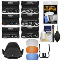 Vivitar Series 1 24-Piece Ultimate Filter Set (58mm) with UV, CPL, FLD, ND, 4 Special Effects, 4 Trick, 4 Softening, 4 Color, 4 Macro + Hood Kit with VIVITAR USA Warranty