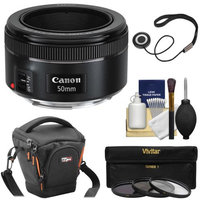 Canon EF 50mm f/1.8 STM Lens with Case + 3 UV/CPL/ND8 Filters + Kit