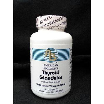 American Biologics Thyroid Glandular 180 Tablets