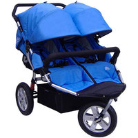 Tike Tech City X3 Swivel Double Stroller - Autumn Orange