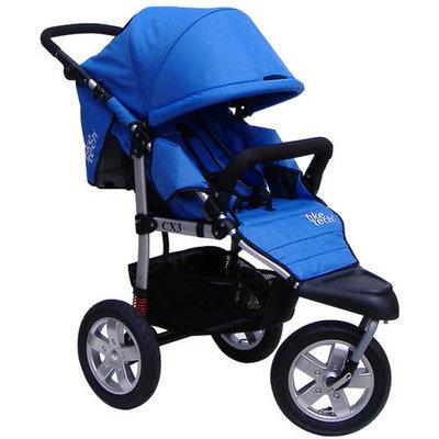 Tike Tech City X3 Swivel Single Stroller - Pacific Blue