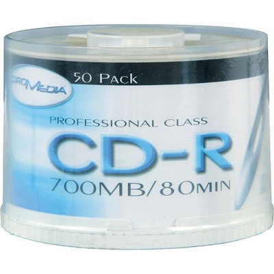 Pro Media Bk Media Cd-R 80-Minute 52X 50-Pack