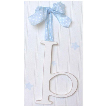 New Arrivals 9 Hand Painted Hanging Letter - H - Ribbon Color: Solid Brown