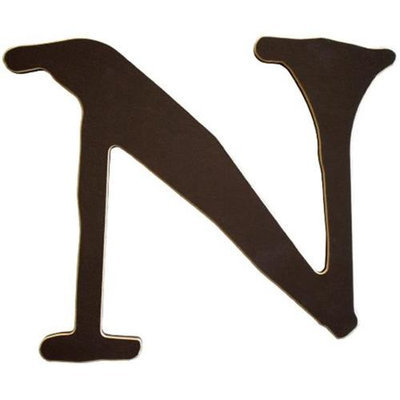 New Arrivals Newarrivals WLN-037 Capital Letters N in Chocolate