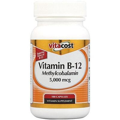 Vitacost Brand Vitacost Vitamin B-12 Methylcobalamin -- 5000 mcg - 100 Capsules