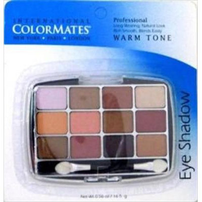 Colormates 12pan Eyeshadow Warm Pack Of 6