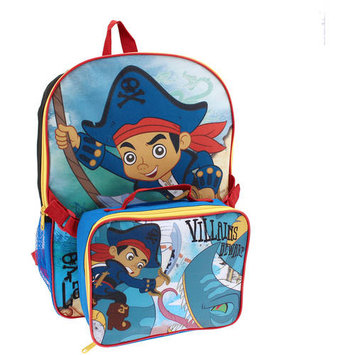 Ruz Backpack - Jake and the Neverland Pirate - w/ Lunch Bag New 391859