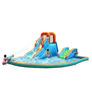 Bounceland Cascade Inflatable Water Slides with Large Pool