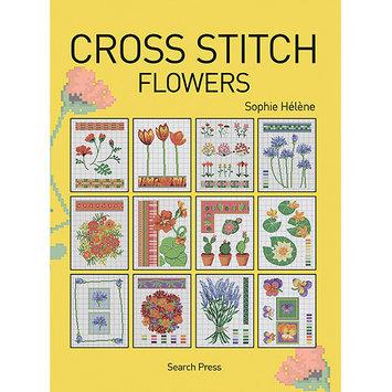 Search Press Books-Cross Stitch Flowers